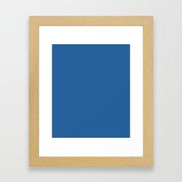 Lapis Lazuli - solid color Framed Art Print