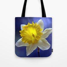 Daffodil in blue 9854 Tote Bag