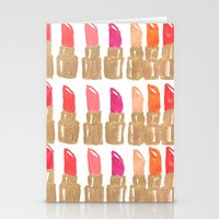 lipstick Stationery Cards featuring Lipstick! by Bouffants and Broken Hearts