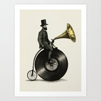 cycling Art Prints featuring Music Man by Eric Fan