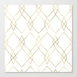 Gold Geometric Canvas Print