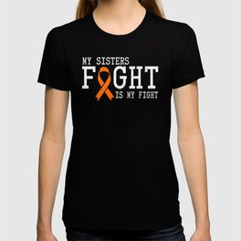 Leukemia Cancer Awareness graphic Gift Sister T-shirt