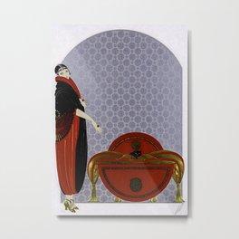 "Art Deco Design ""Emerald Eyes Metal Print"