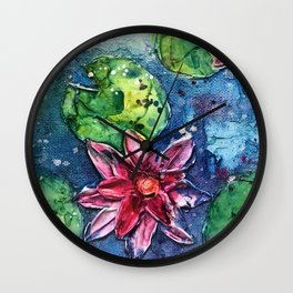 lotus pond Wall Clock