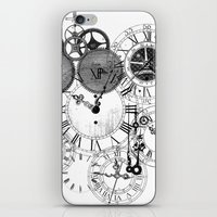 clockwork iPhone & iPod Skins featuring Clockwork by VectoriaDesigns