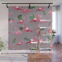 Flamingos Love Pattern 6 Wall Mural