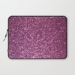 Pink Lavender Glitter with Silvery Highlights Laptop Sleeve