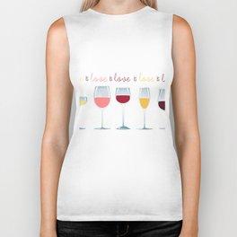 Love is Love is Love is Wine Biker Tank