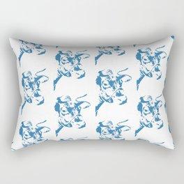 Follow the Herd Pattern - Blue #761 Rectangular Pillow