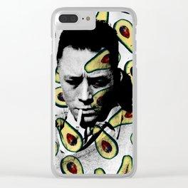 Albert Camus Avocado Pattern Clear iPhone Case