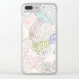 Mermaid Rainbow Dots Colorful Abstract Gems Clear iPhone Case