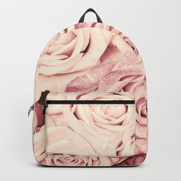 Some people grumble Floral rose roses flowers garden pink Backpack