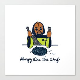 Hungry Like The Worf Canvas Print
