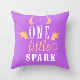 One Little Spark Throw Pillow