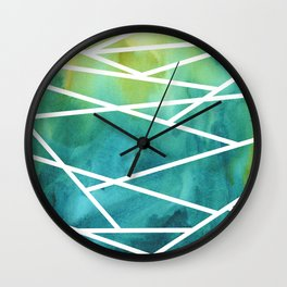 Stripes and Colour 1 Wall Clock