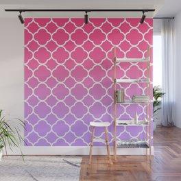 Pink & Lavender Ombre Quatrefoil Wall Mural