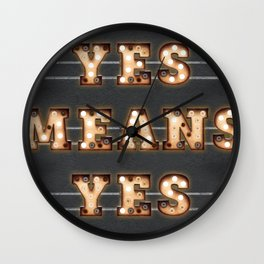 YES MEANS YES - Bulb Wall Clock