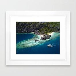 Island hopping around the Philippine Islands Framed Art Print