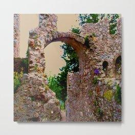 secret garden behind byzantine ruins Metal Print