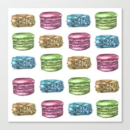 Colorful Macaroon Variety Canvas Print