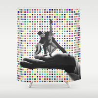 dancing Shower Curtains featuring Dancing by Cs025