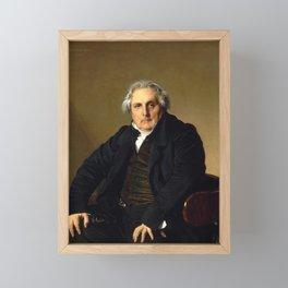 Jean-Auguste-Dominique Ingres - Portrait of Monsieur Bertin Framed Mini Art Print