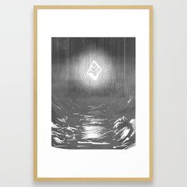 Mythic, now. Framed Art Print