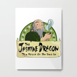 The Jasmine Dragon Tea House Metal Print