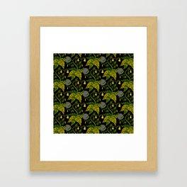 Night Foliage - Yellow Framed Art Print