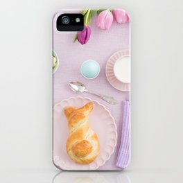 Easter breakfast iPhone Case