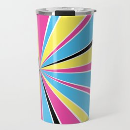 CMYK Star Burst Travel Mug
