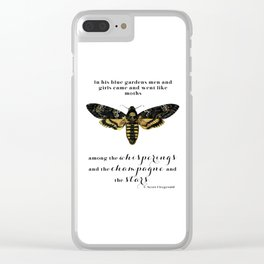 Among the whisperings and the champagne and the stars Clear iPhone Case