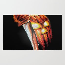 Halloween Pumpkin Stained Glass Rug
