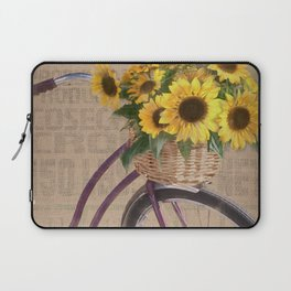 Sunflower Bicycle Laptop Sleeve