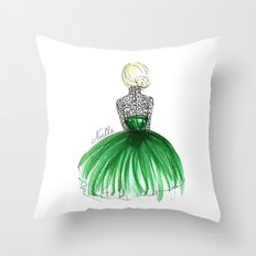 Emerald Dress Throw Pillow