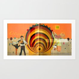 Ice Skaters Art Print
