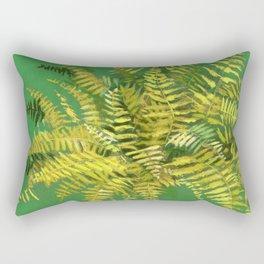 Golden Fern, green & yellow Rectangular Pillow