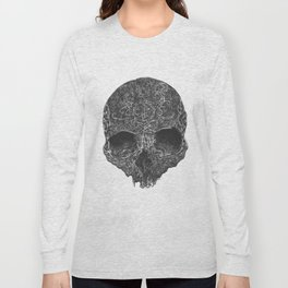 curved drawing skull Long Sleeve T-shirt