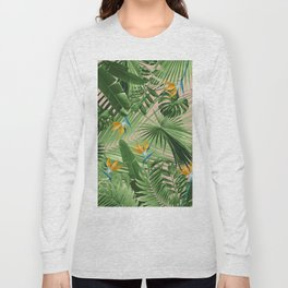 Bird of Paradise Jungle Leaves Dream #2 #tropical #decor #art #society6 Long Sleeve T-shirt