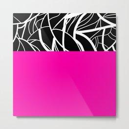 Pink Zebra Metal Print