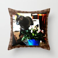 marley Throw Pillows featuring Get Down Marley by LEEMARIE