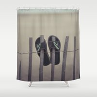 lost Shower Curtains featuring Lost by Maria Heyens