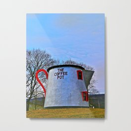 The Coffee Pot Metal Print
