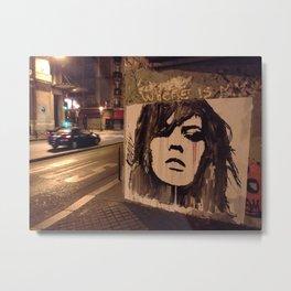 Graffiti Girl Paris Metal Print