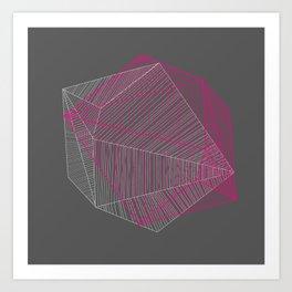 Shapes N Stripes Art Print