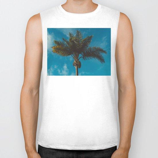 Palm Tree II Biker Tank