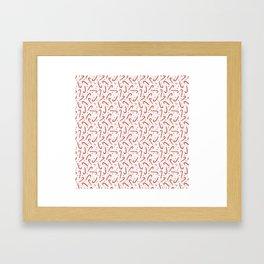 Candy Cane Christmas Framed Art Print