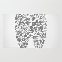 tooth Area & Throw Rugs featuring Tooth by aleksander1