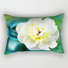 Summer White Rectangular Pillow