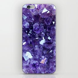 Raw Amethyst - Crystal Cluster iPhone Skin